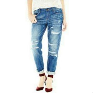 Joe Fresh | Hi Rise Boyfriend Distressed Jeans